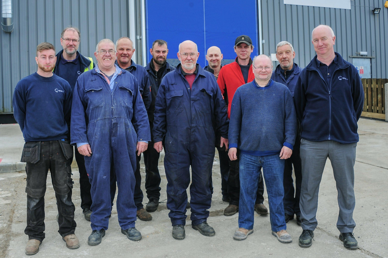 Spiral UK manufacturing team