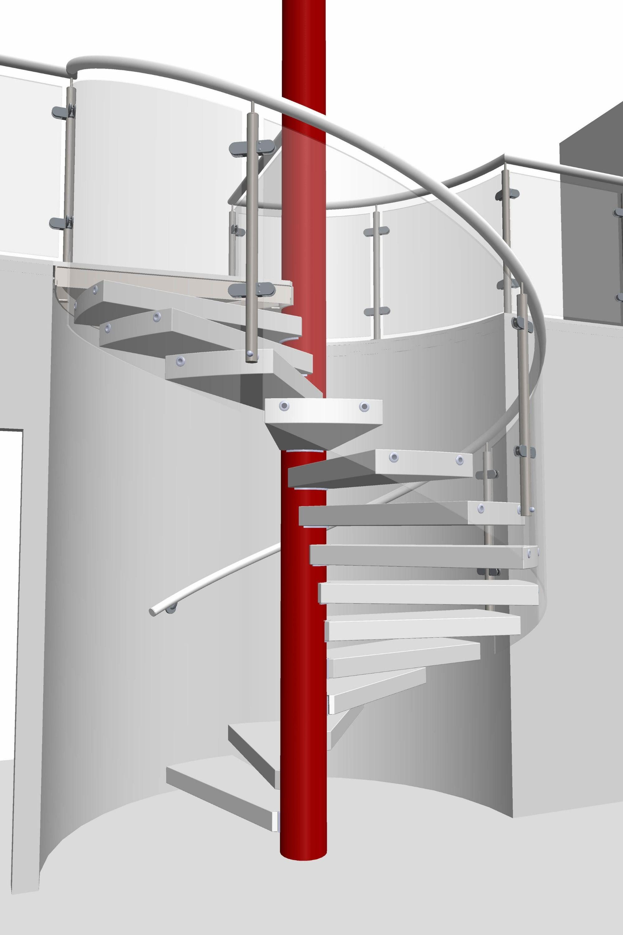 Render of spiral staircase