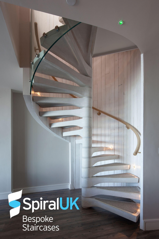 Concrete spiral stair