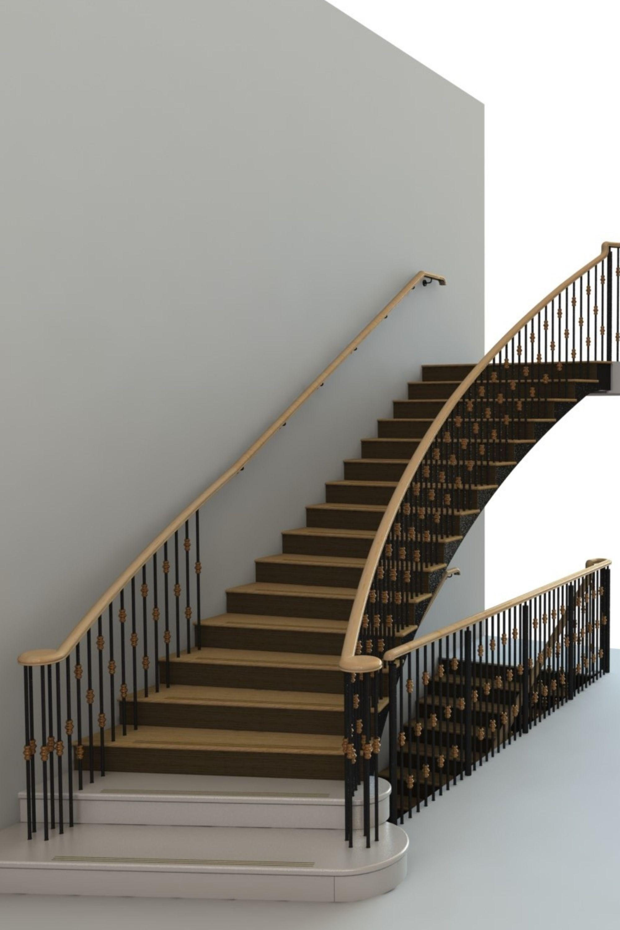 Render commercial staircase