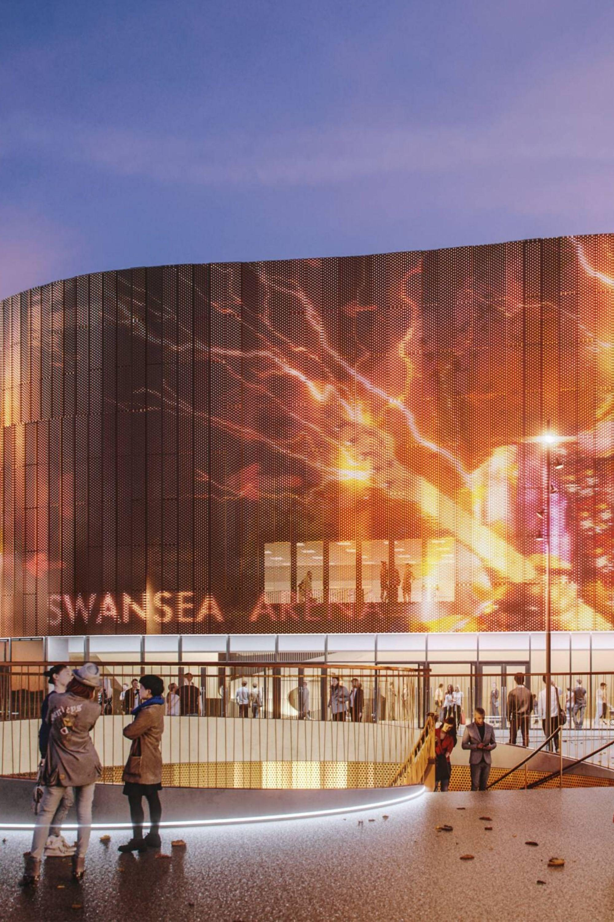Render by AFL Architect of Swansea Arena