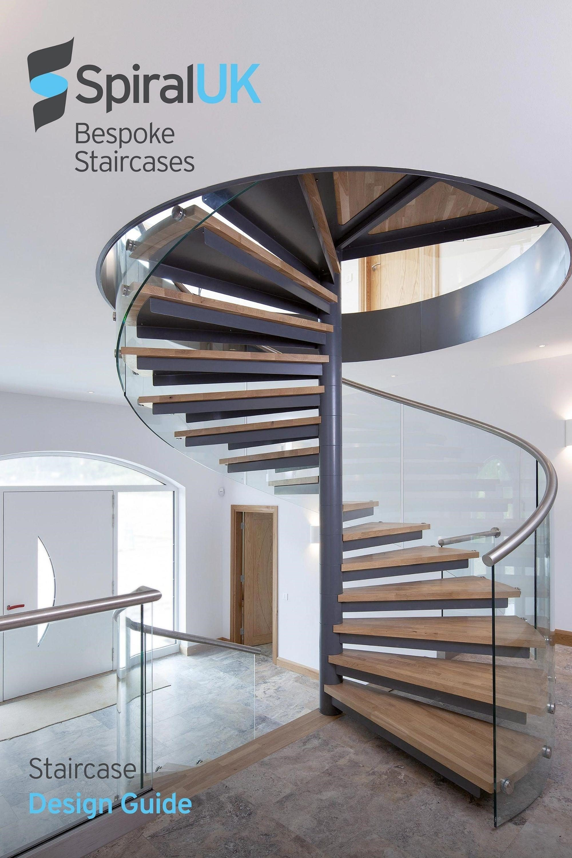 staircase design guide cover image of spiral stairs