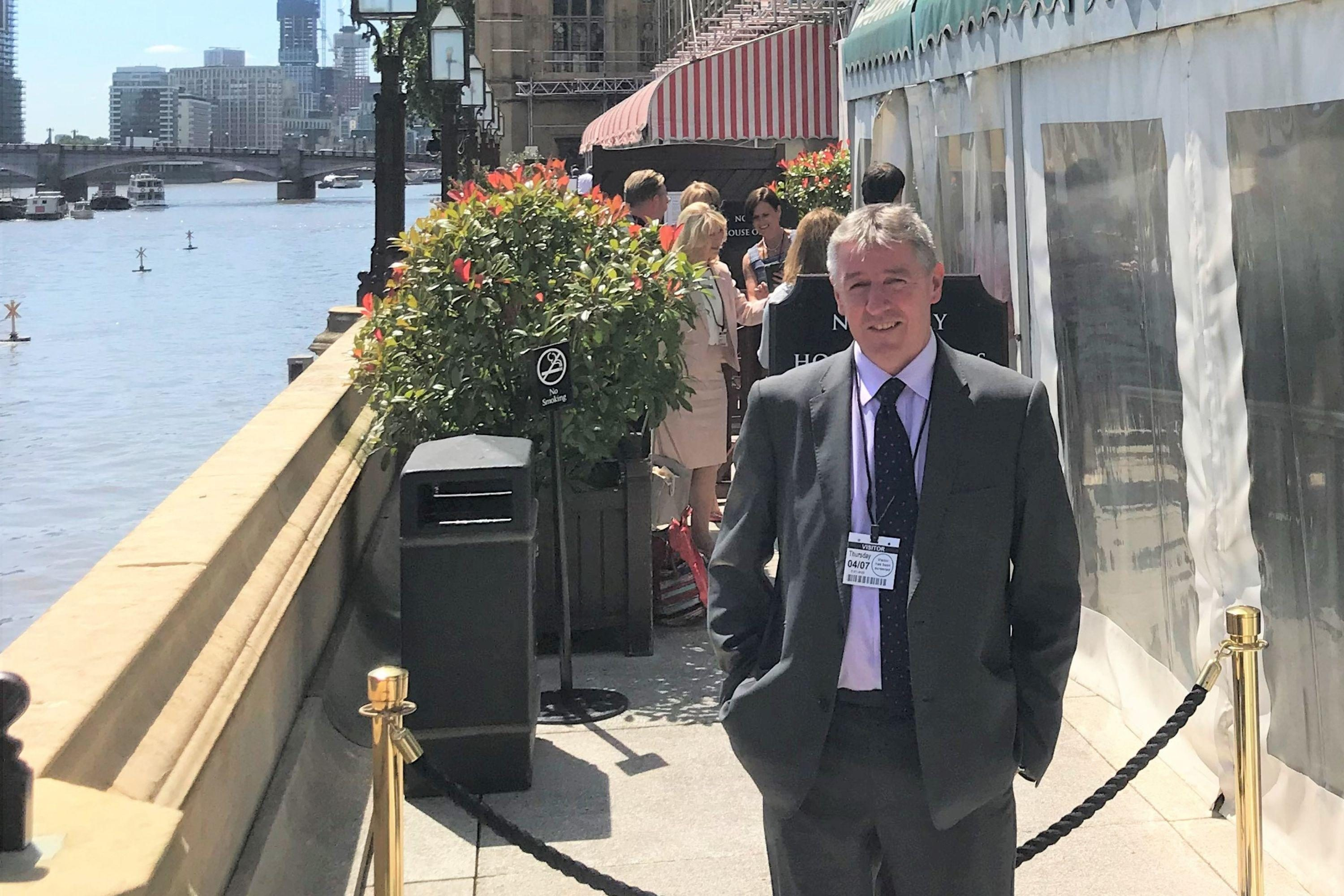 Eric Nicholls at the House of Lords Terrace