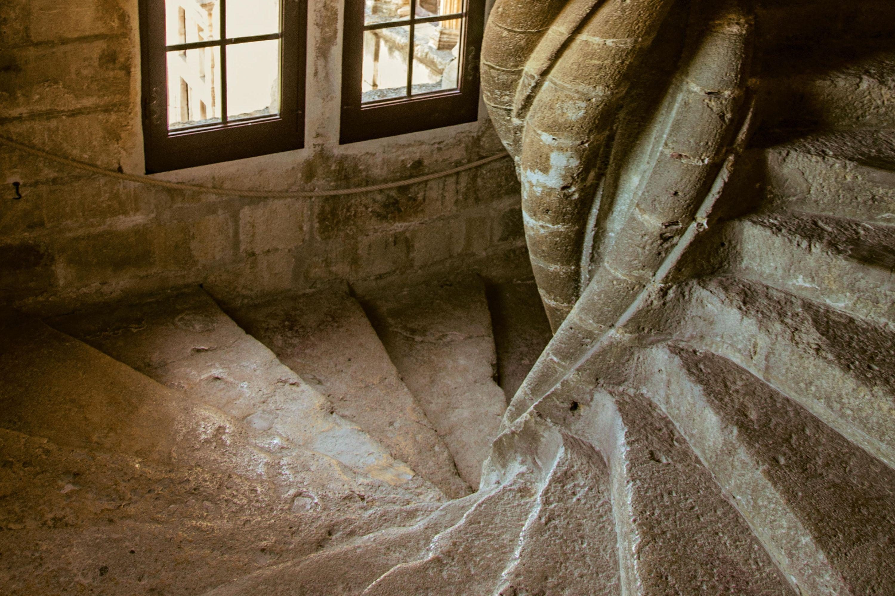 Old castle spiral staircase