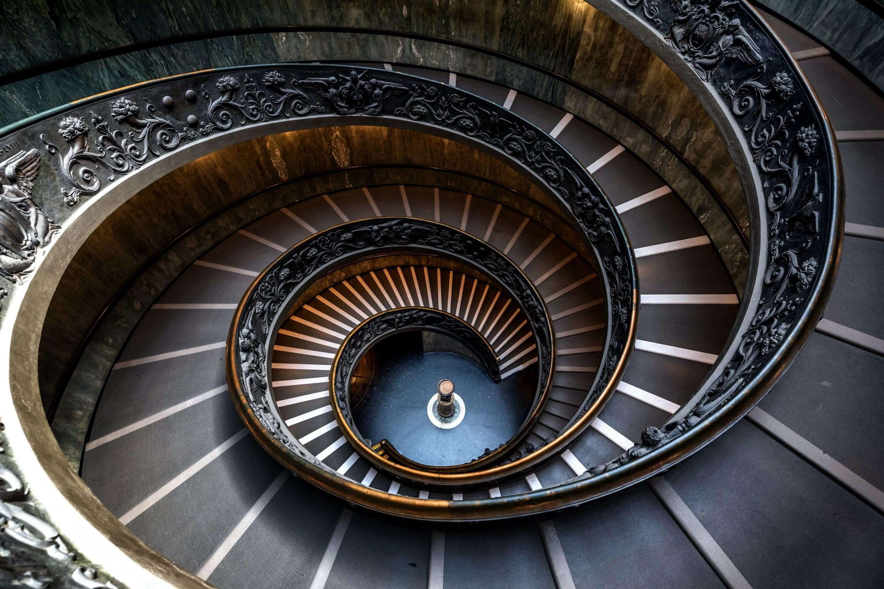 spiral staircase in Rome
