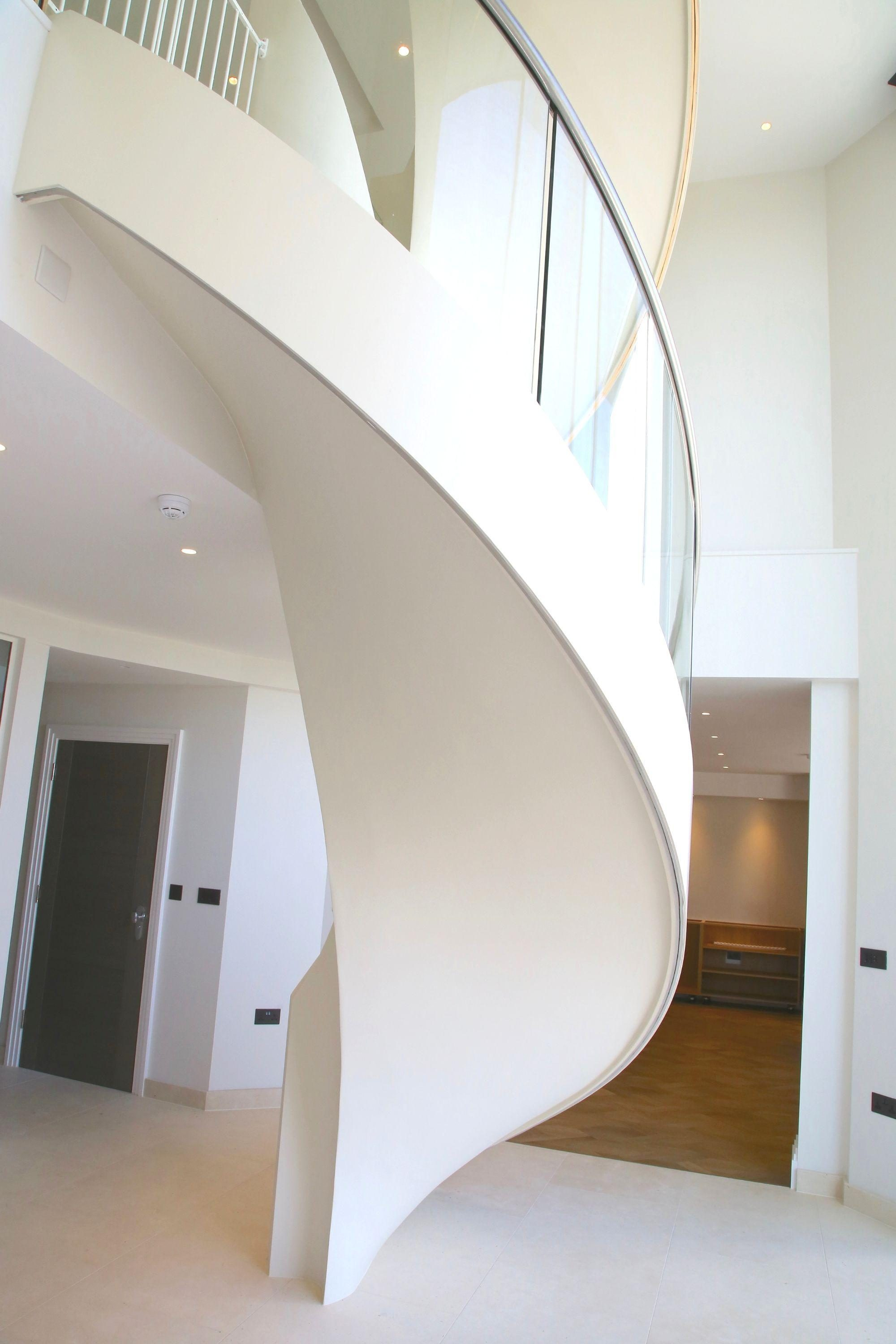 Underside of Curved Staircase