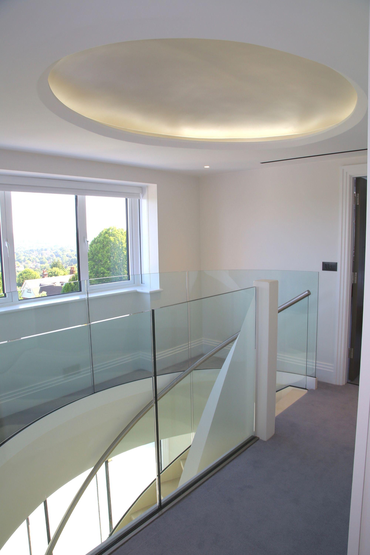 Glass balustrade to landing