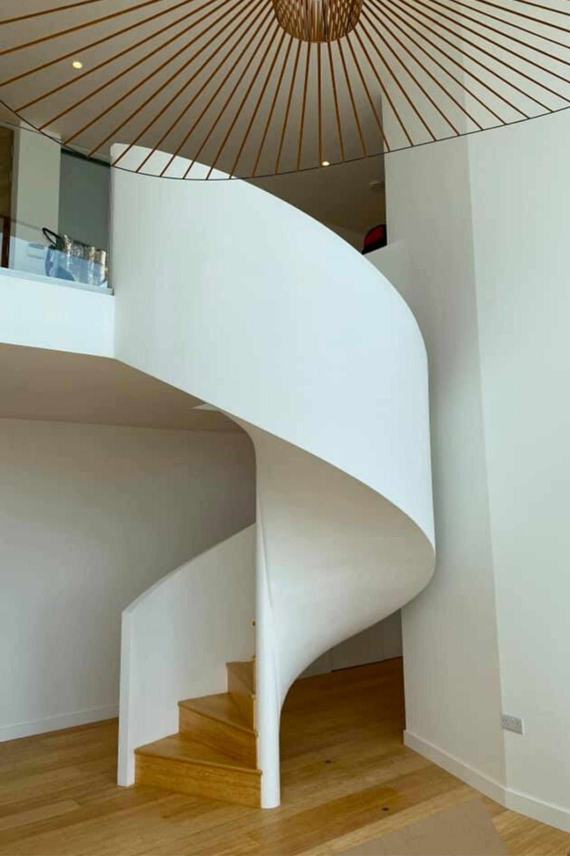 spiral stairs in home
