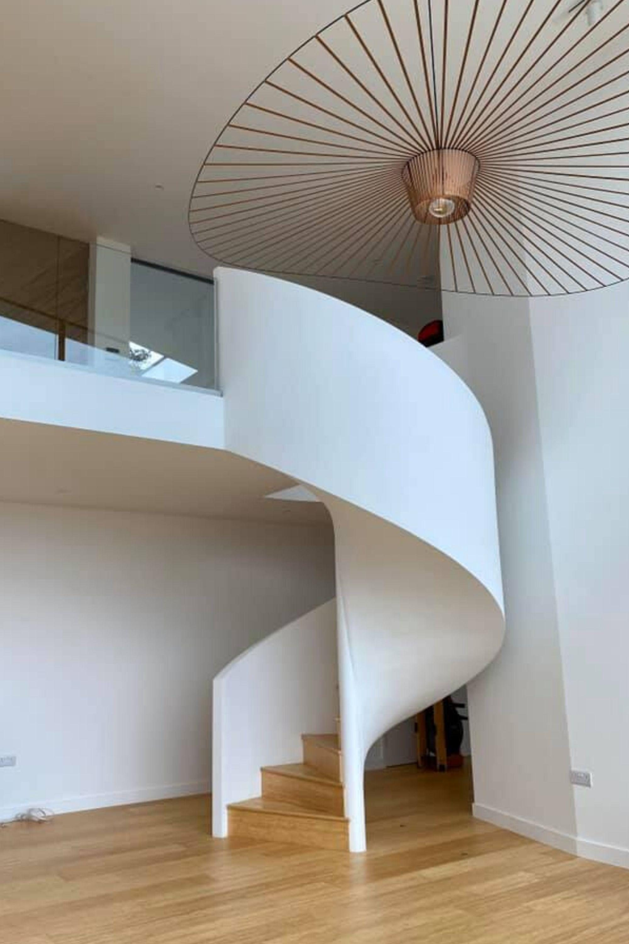 spiral staircase with full height balustrade