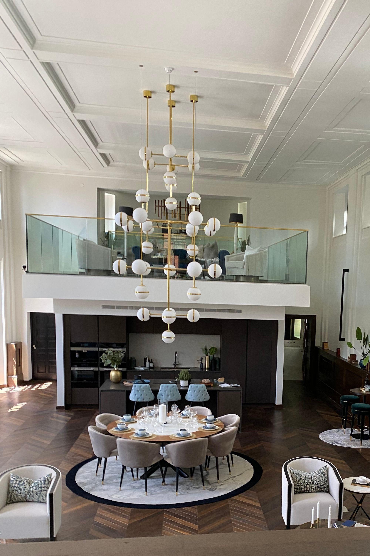 Interior design of living area