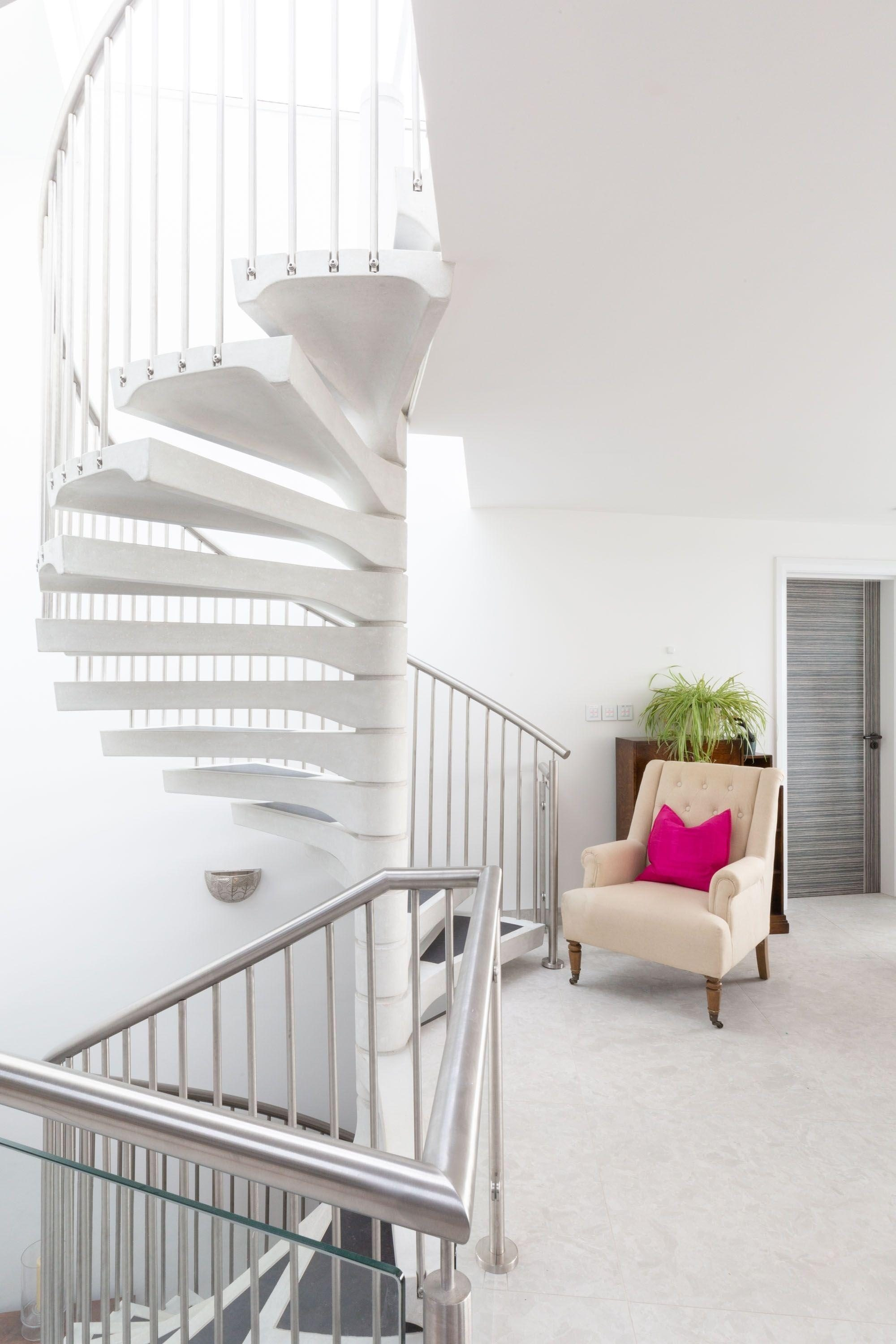 concrete spiral stairs