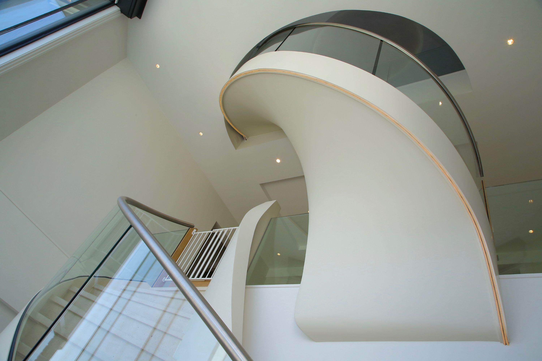 Underside elliptical stairs