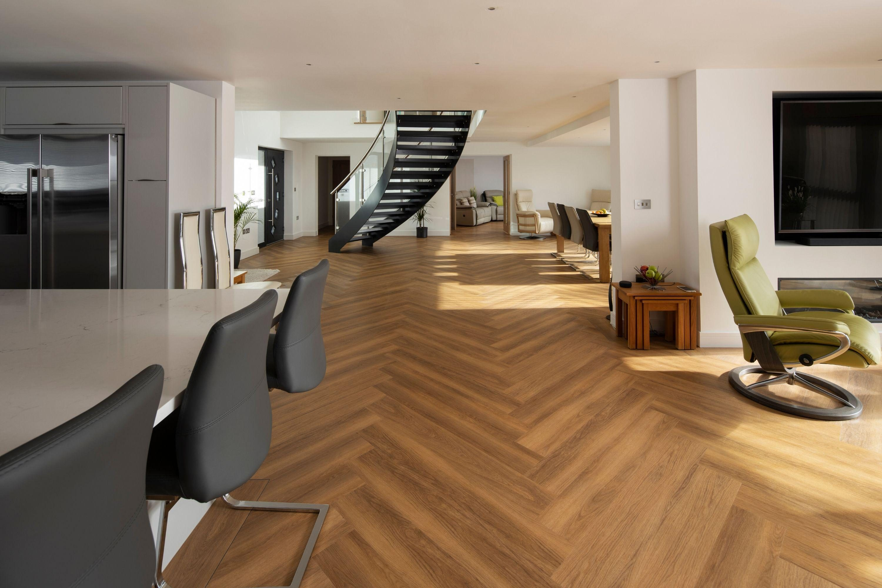 Curved staircase in residential property