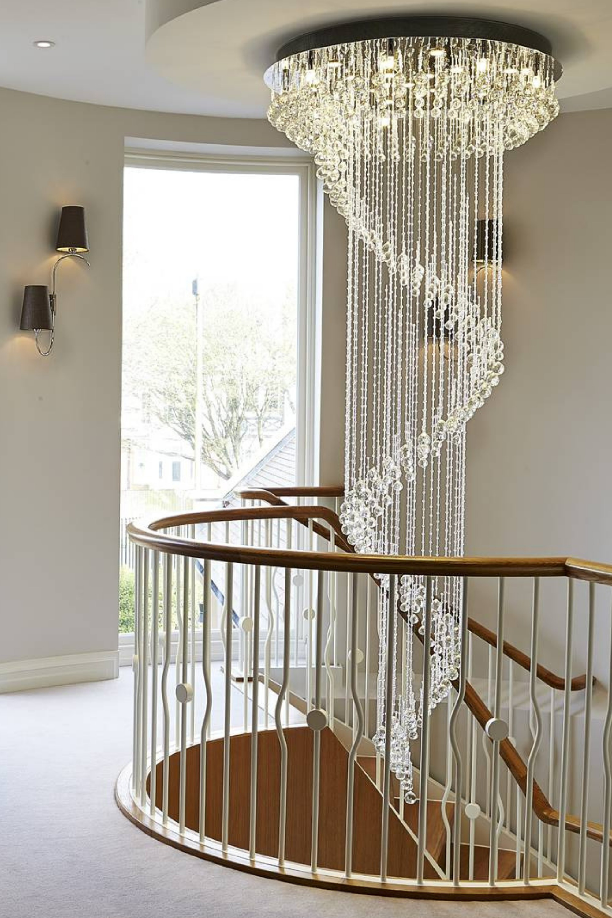 Balustrade on curved stair