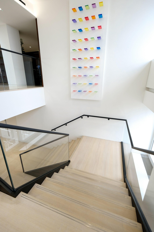 dog-leg office stair