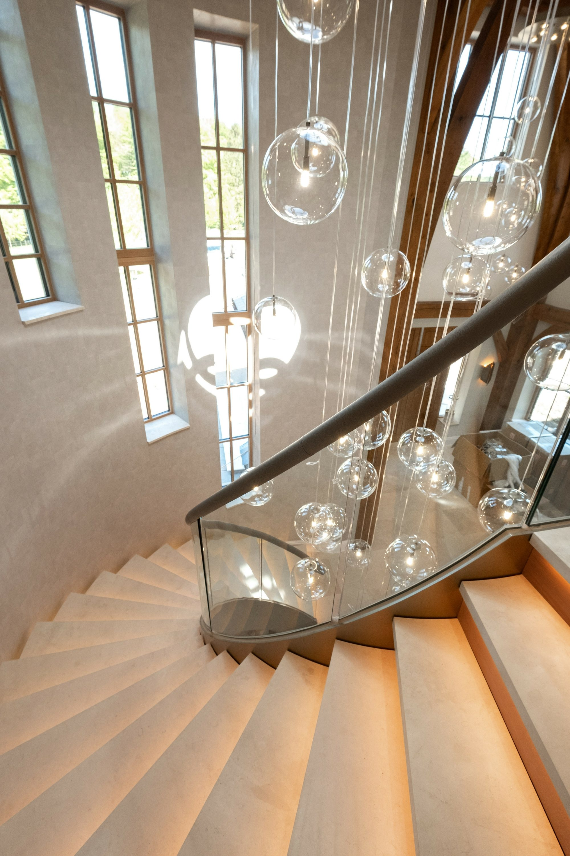 Luxury helical staircase