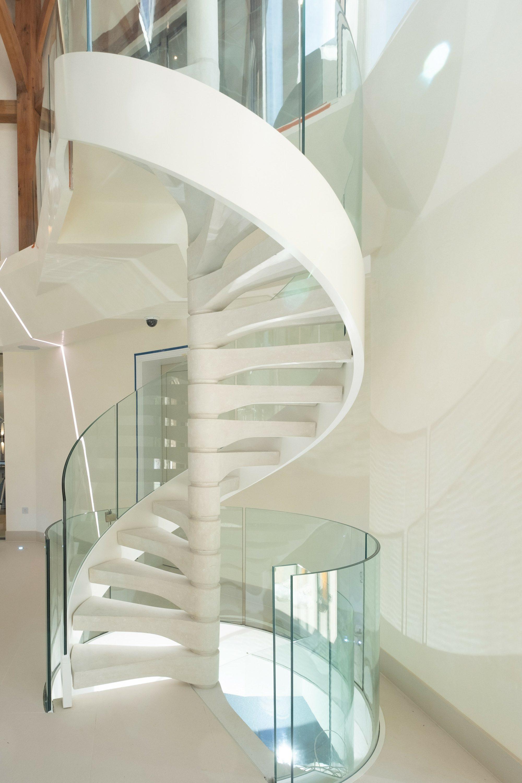 Concrete spiral staircase