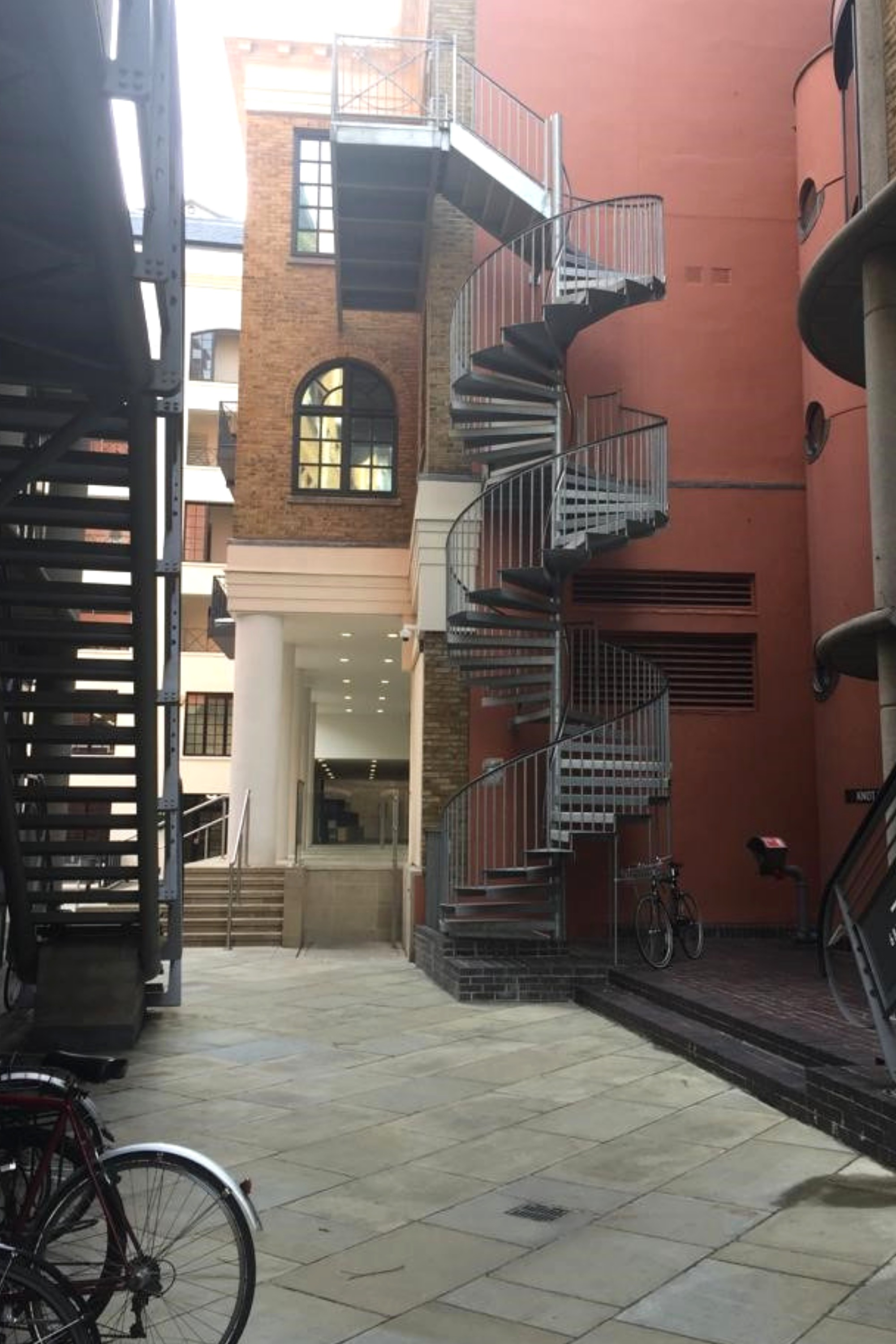 Steel spiral stairs