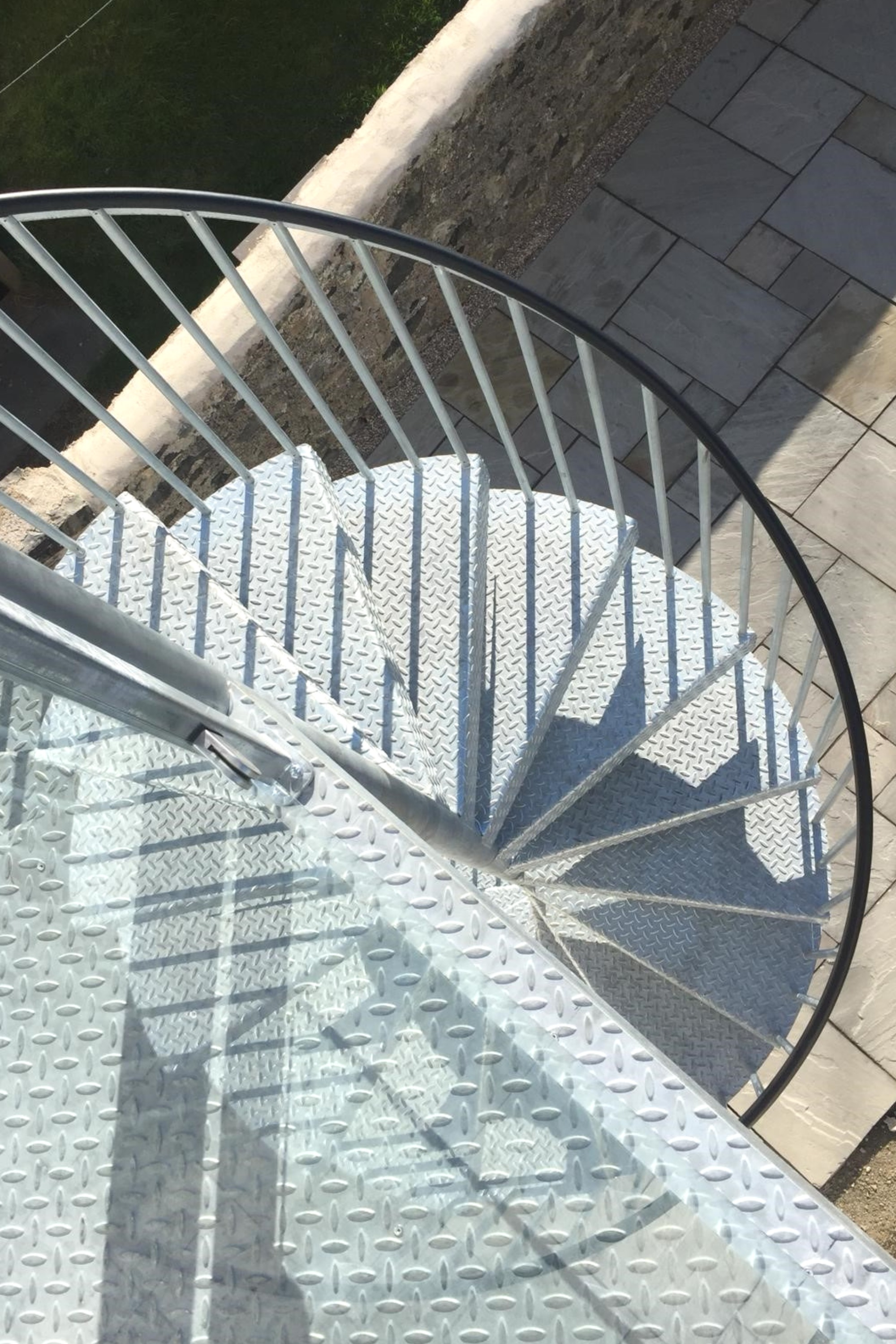 External fire escape stairs
