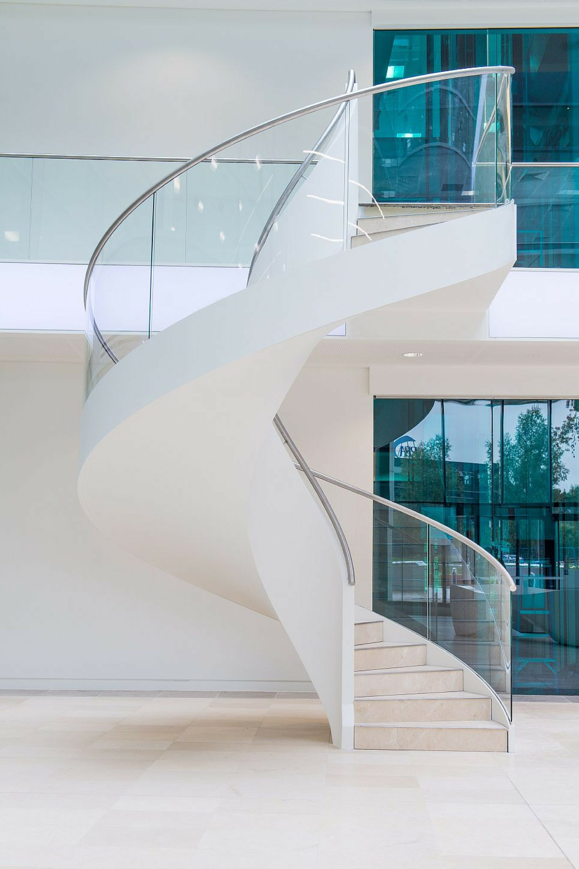 Helical office fit out staircase