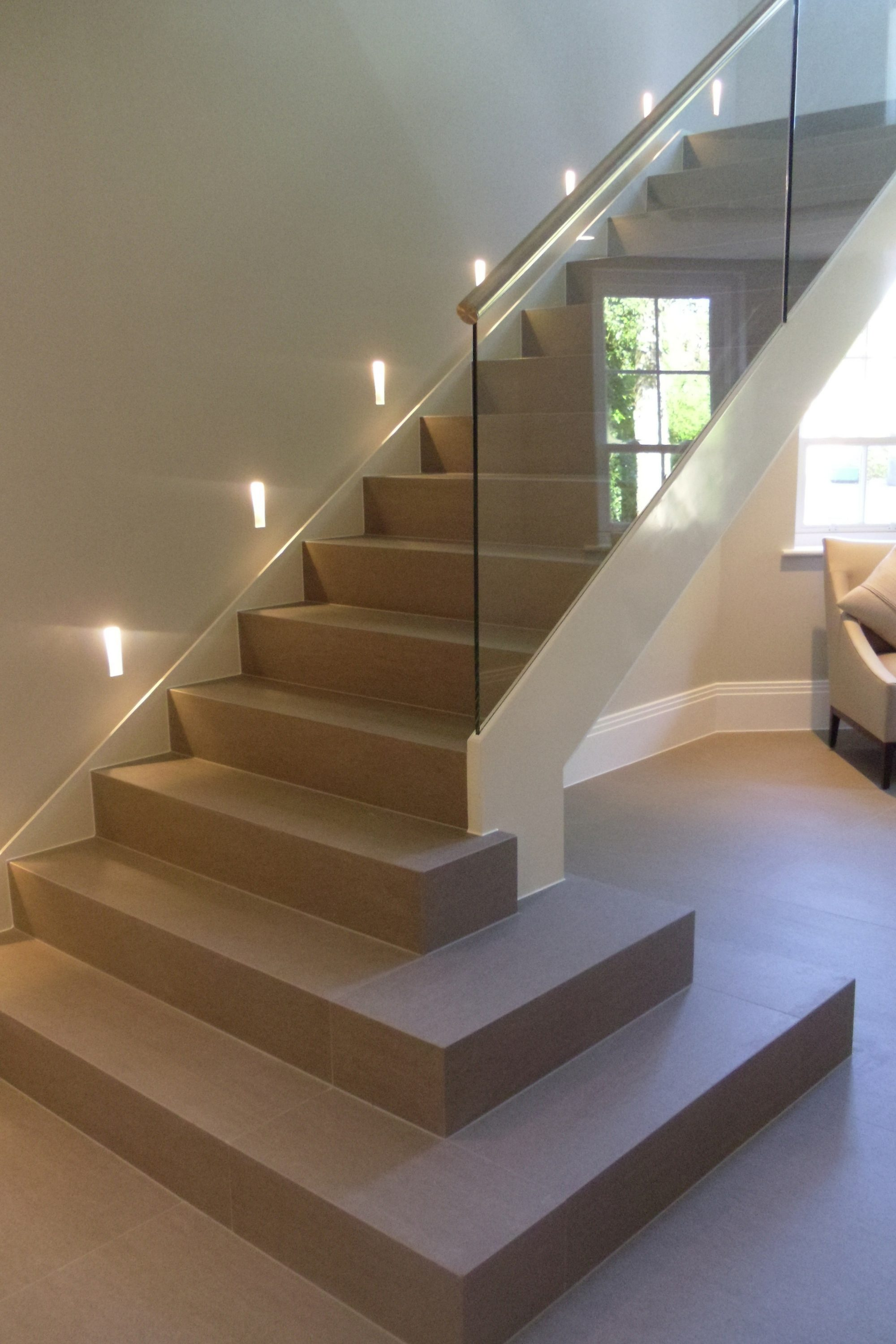 Luxury straight staircase