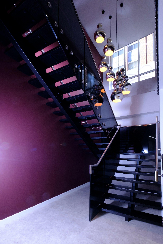 Black walnut straight stair