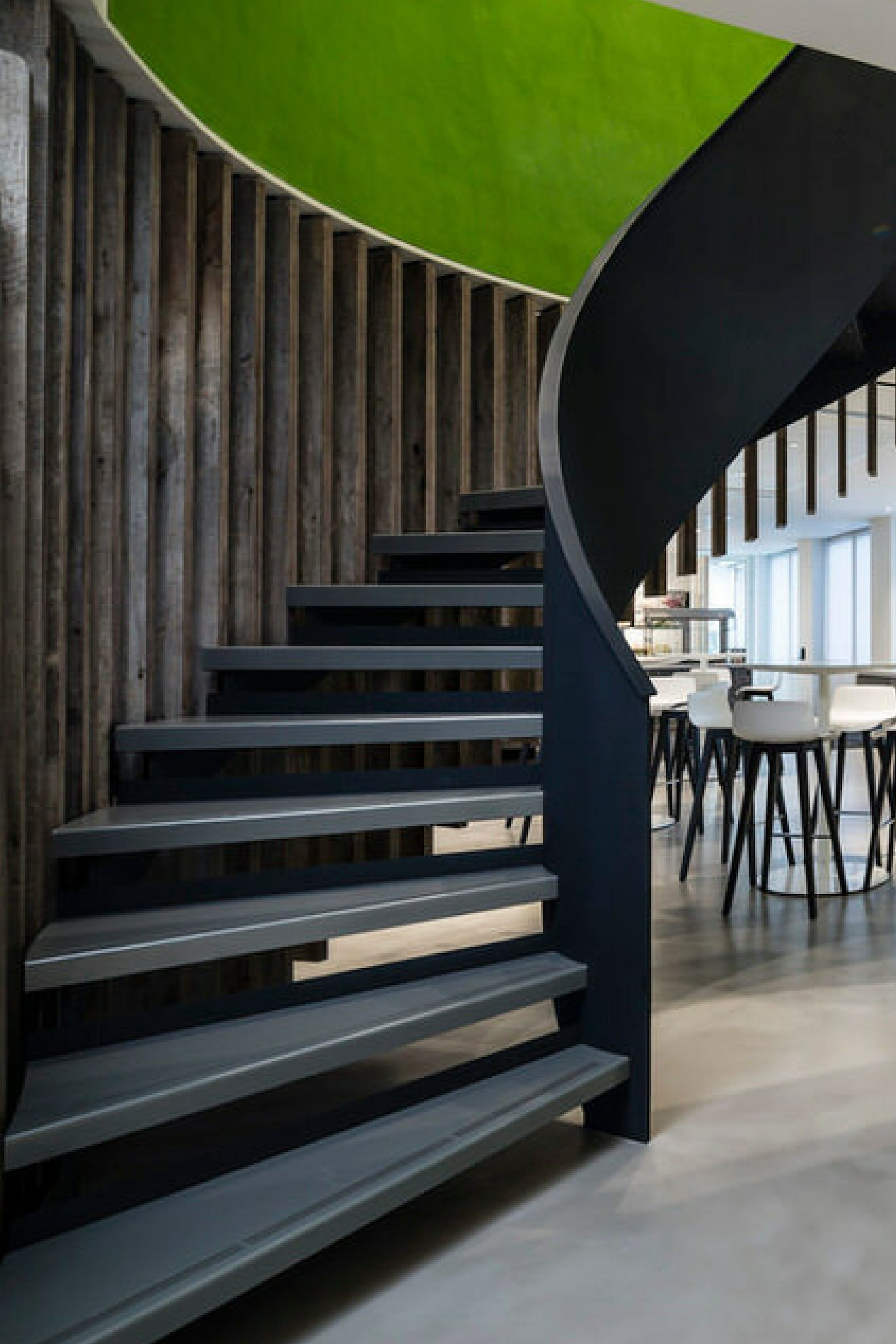 helical staircase for office fit out