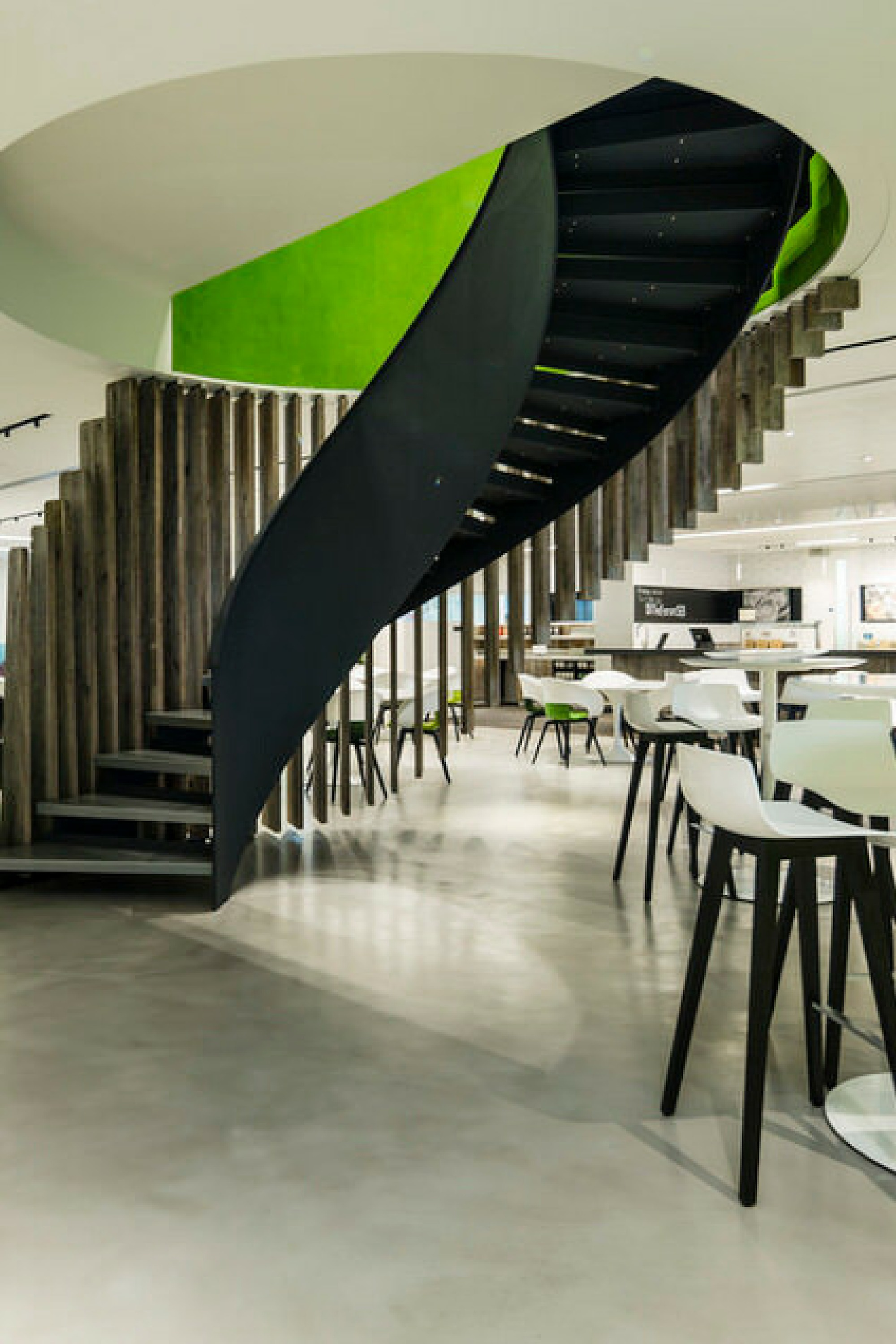 Office fit out staircase