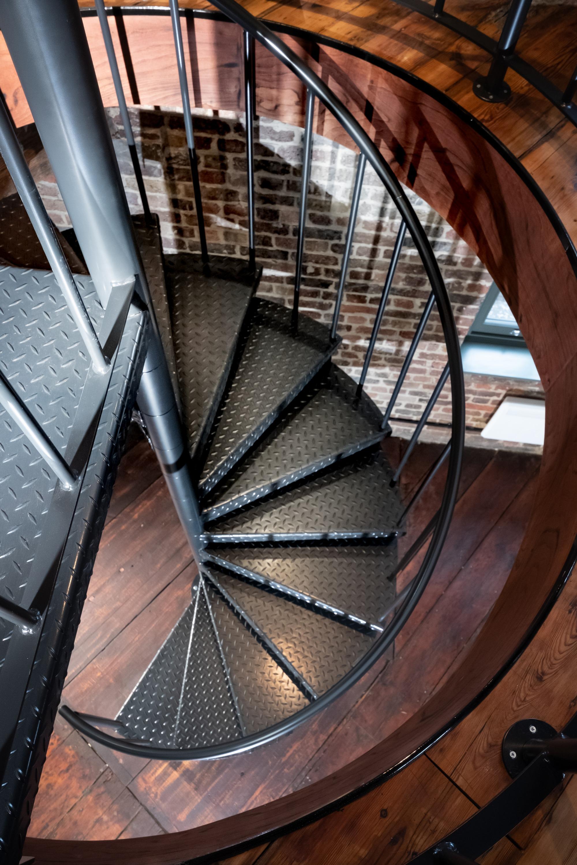 Interior spiral stairs