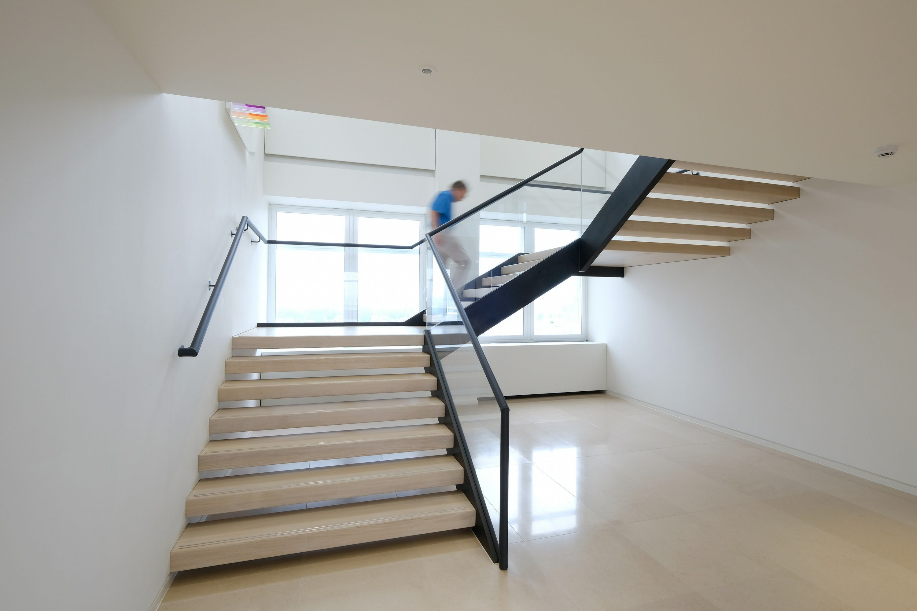 office fit out straight staircase