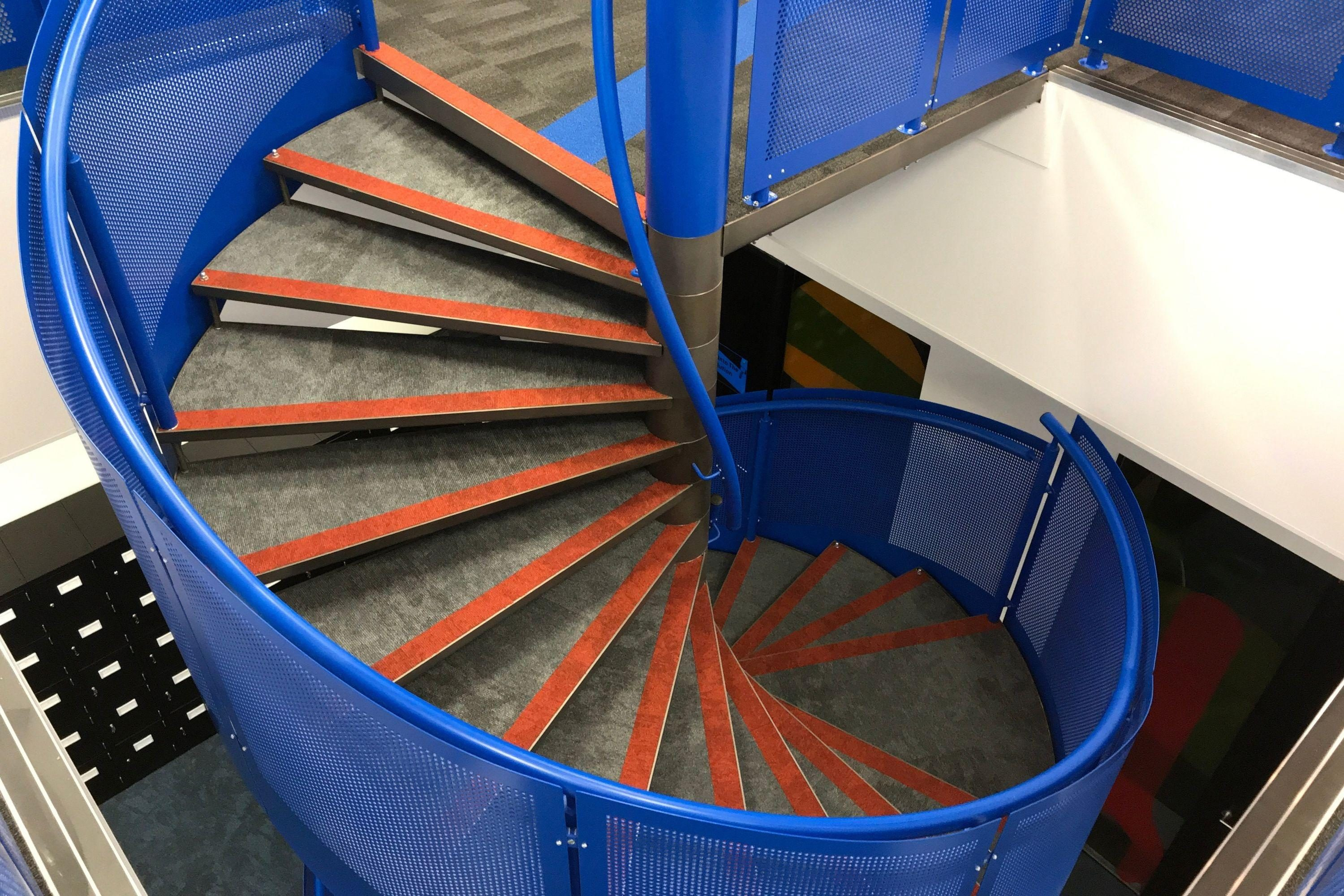 spiral staircase for office fit out