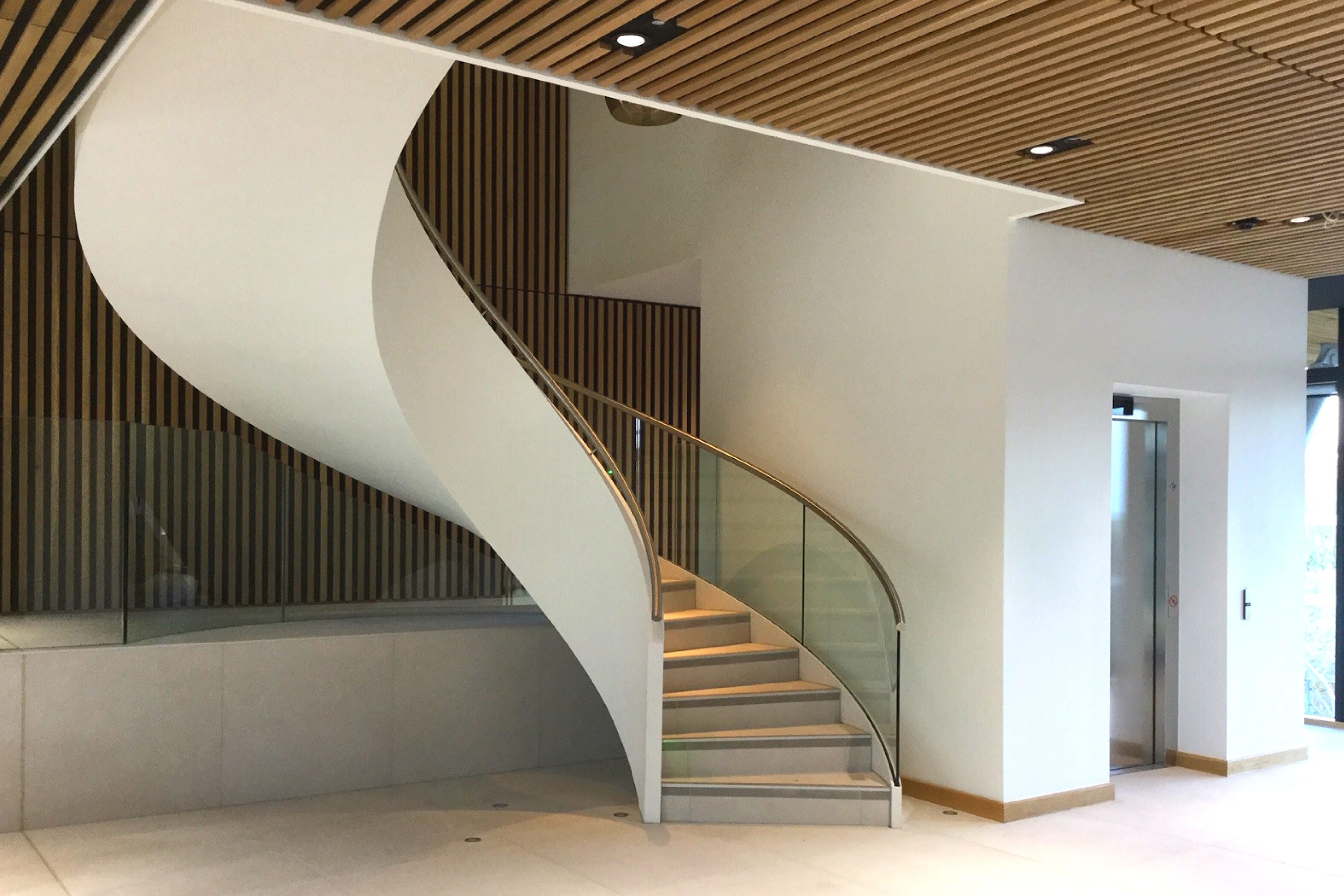 Beautiful commercial helical staircase