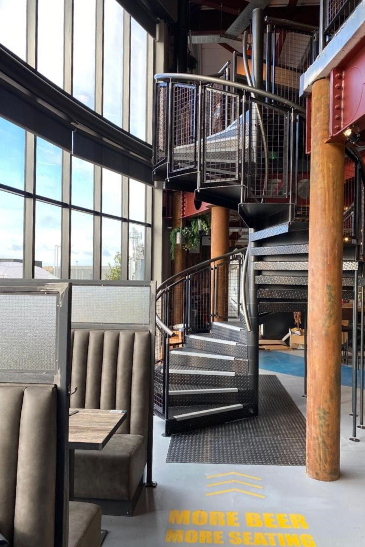 internal steel spiral staircase