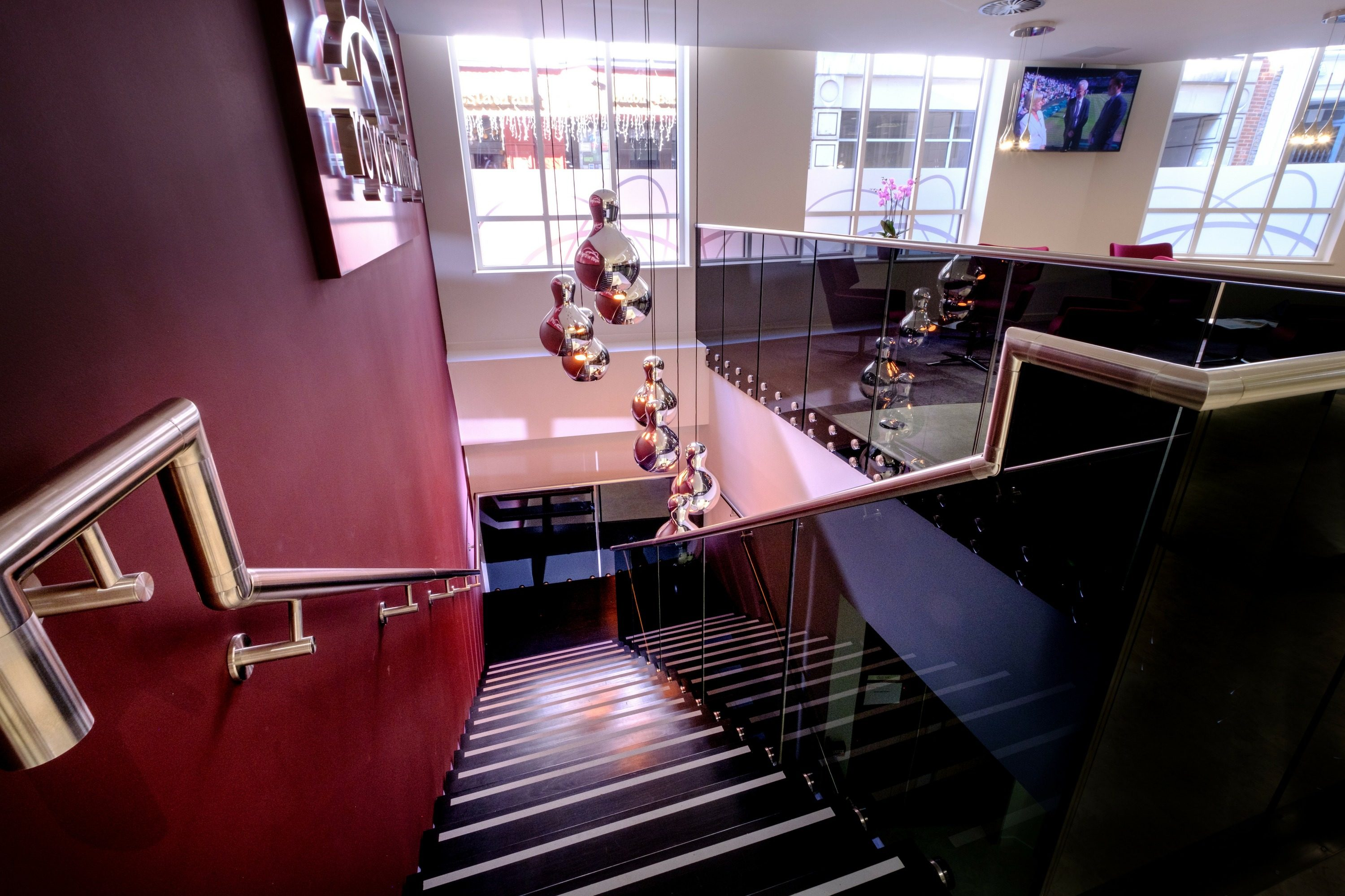 Office fit out staircase straight