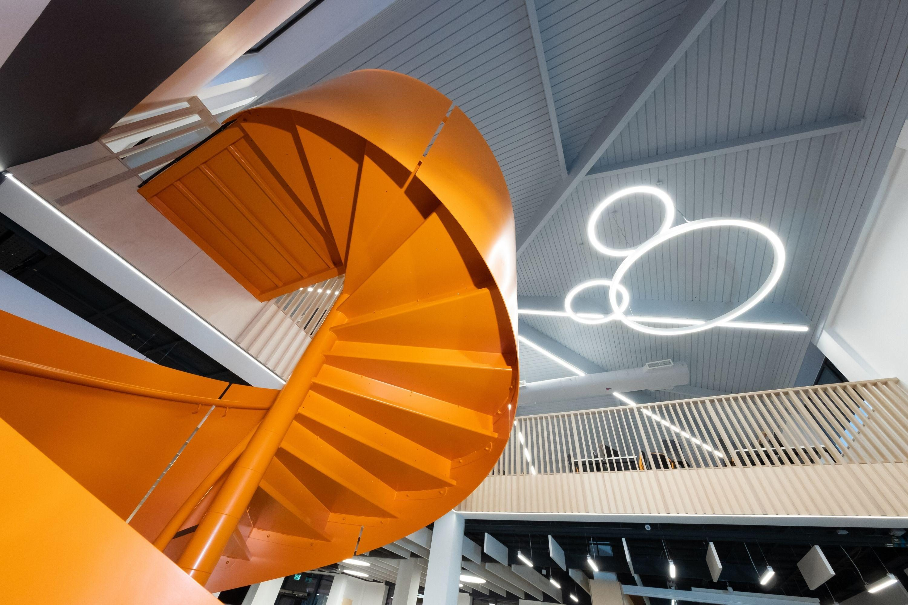 Underside of fit out spiral stairs