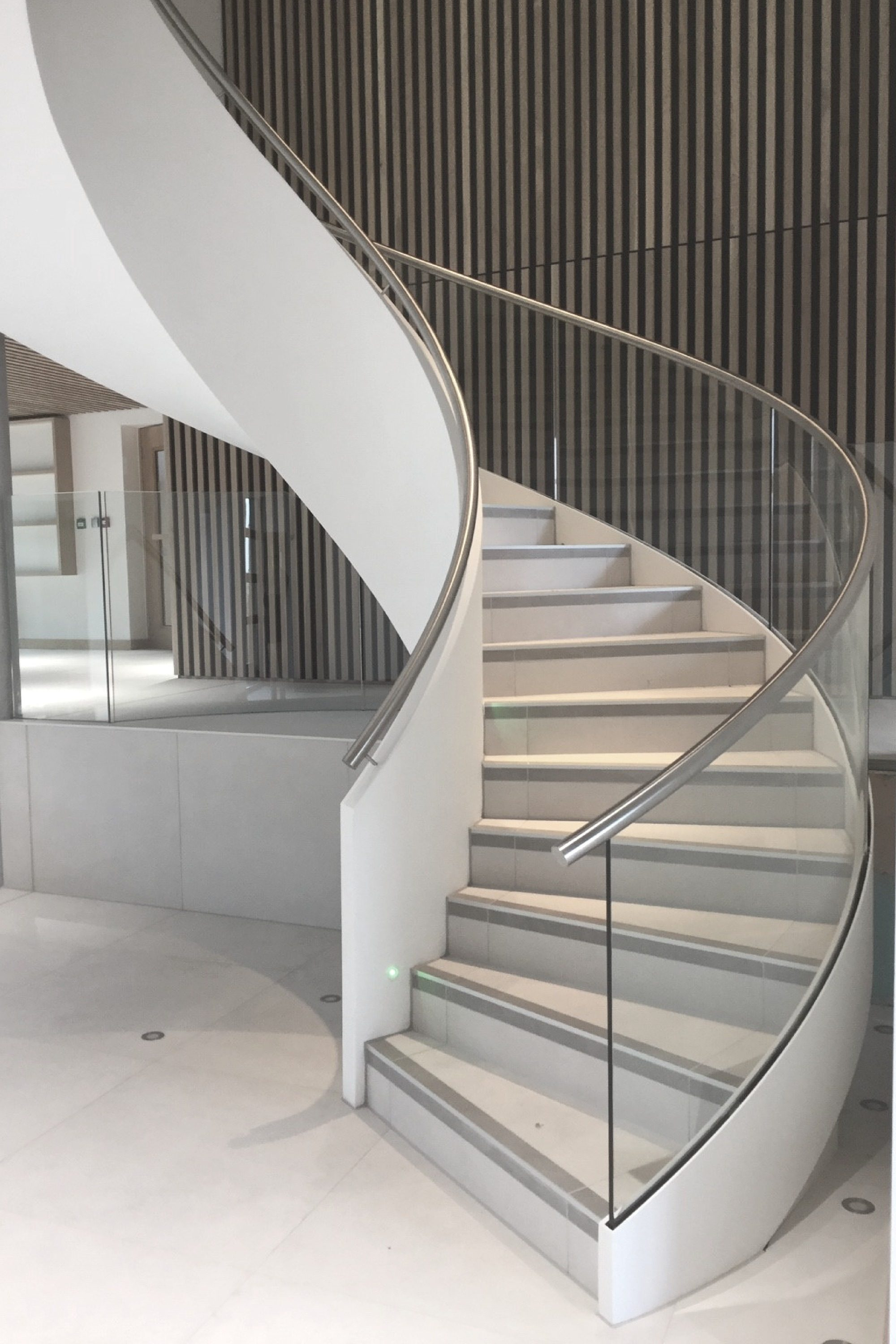 helical commercial stair