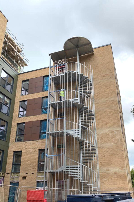 Fire escape spiral staircase