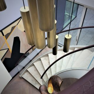 Curved luxury staircase