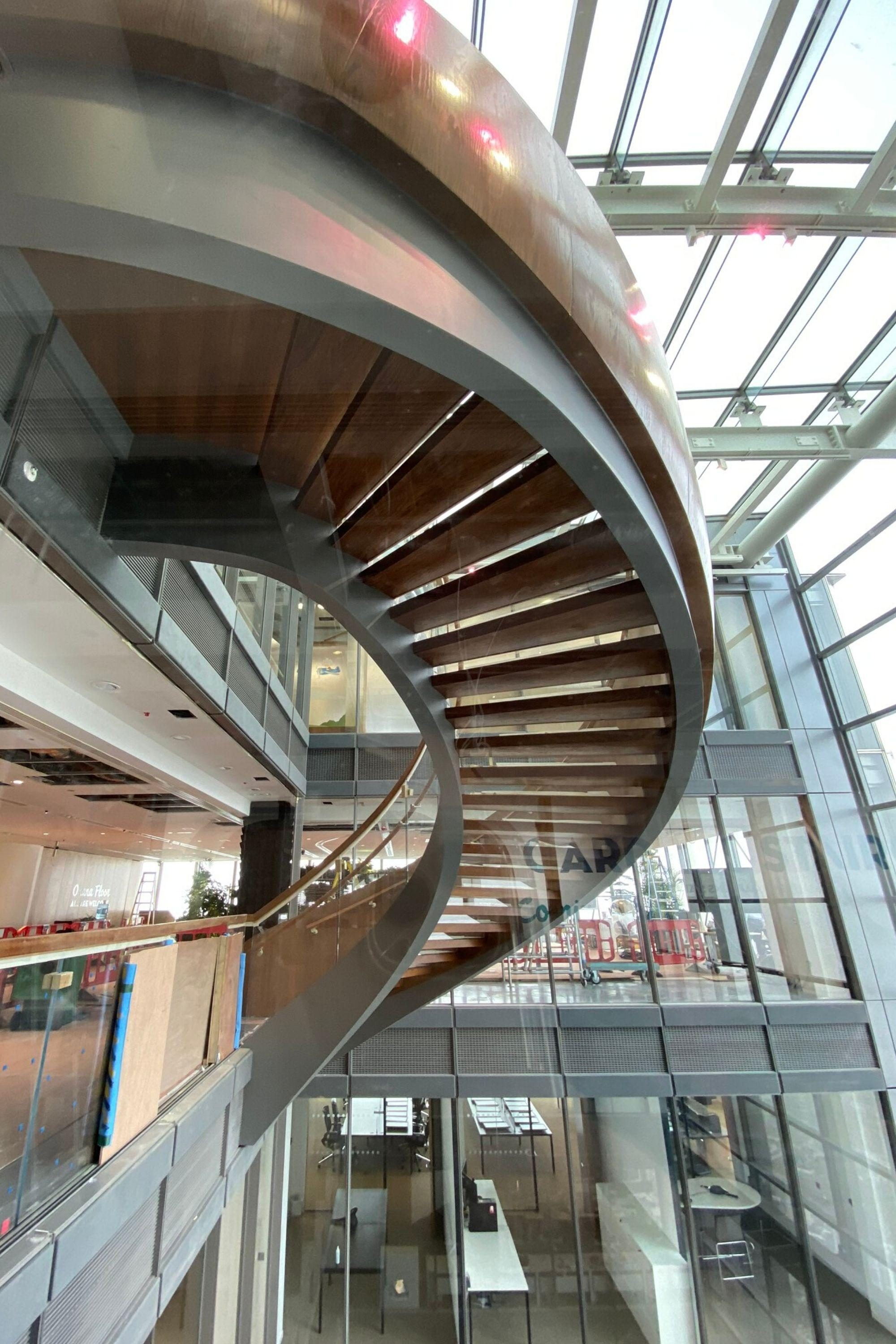 Magnificent fit out staircase
