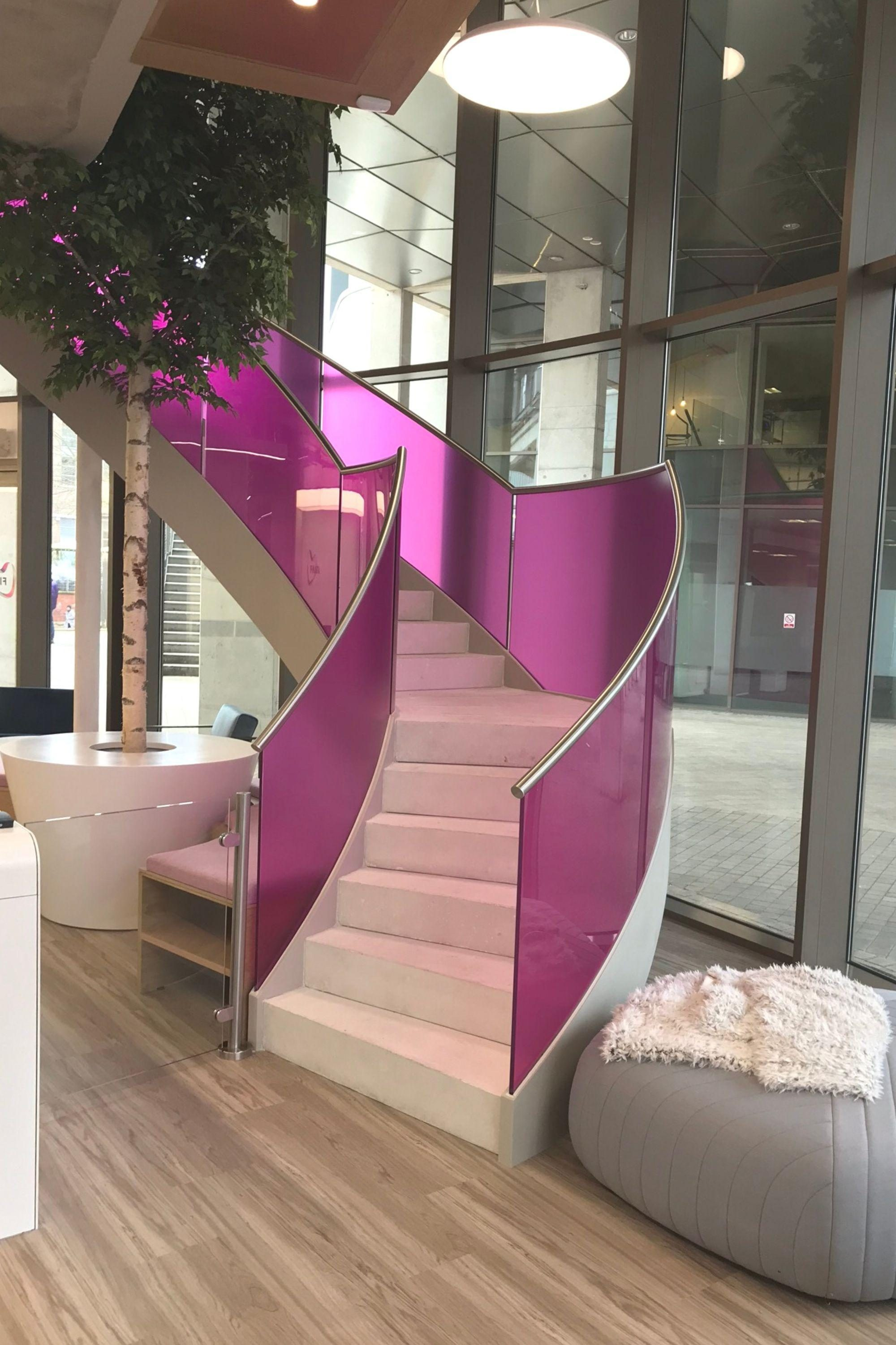 Elliptical office staircase