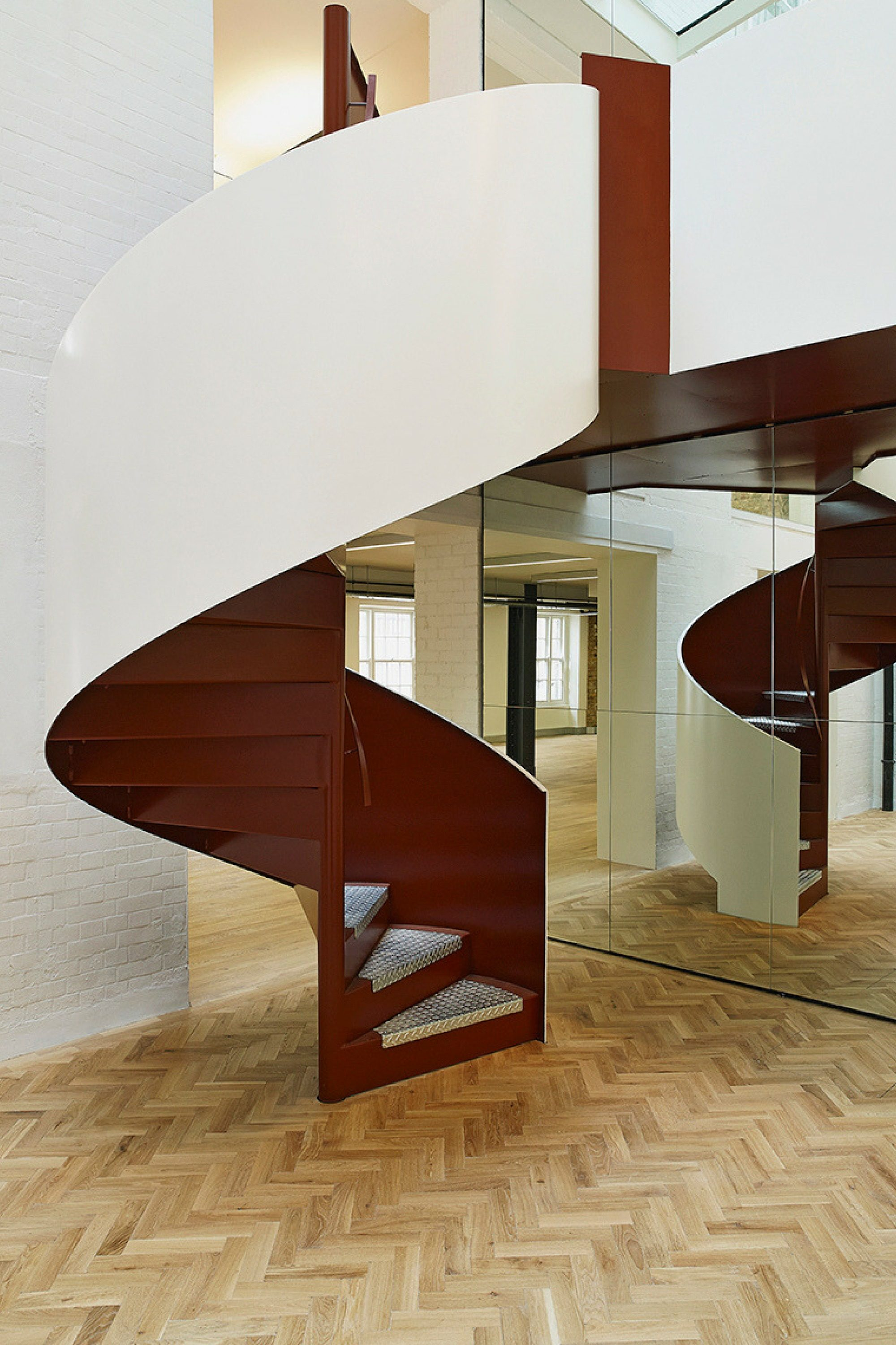 Spiral staircase for office