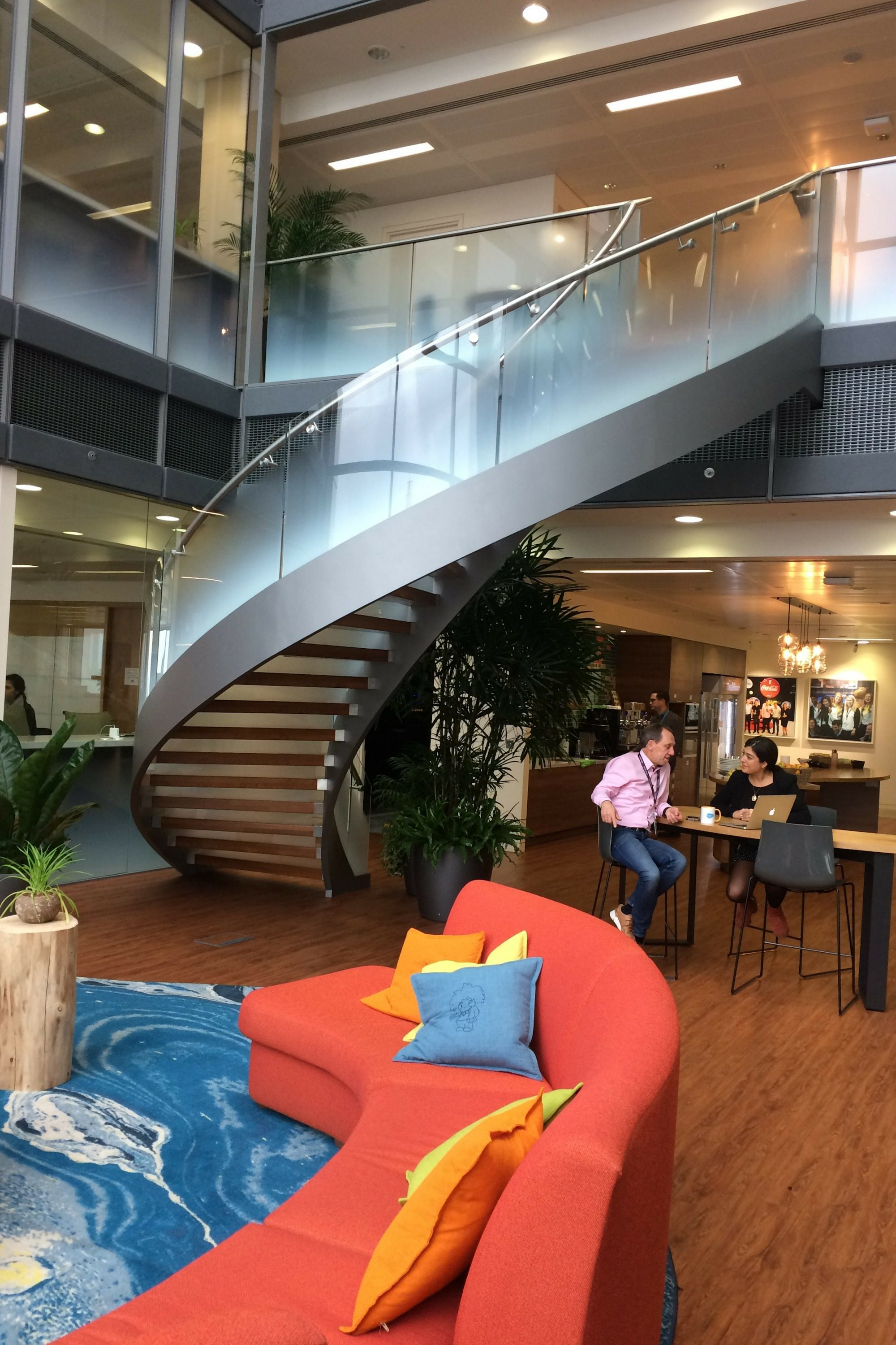 Office fit out helical stair