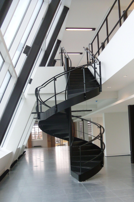 Black spiral access stair