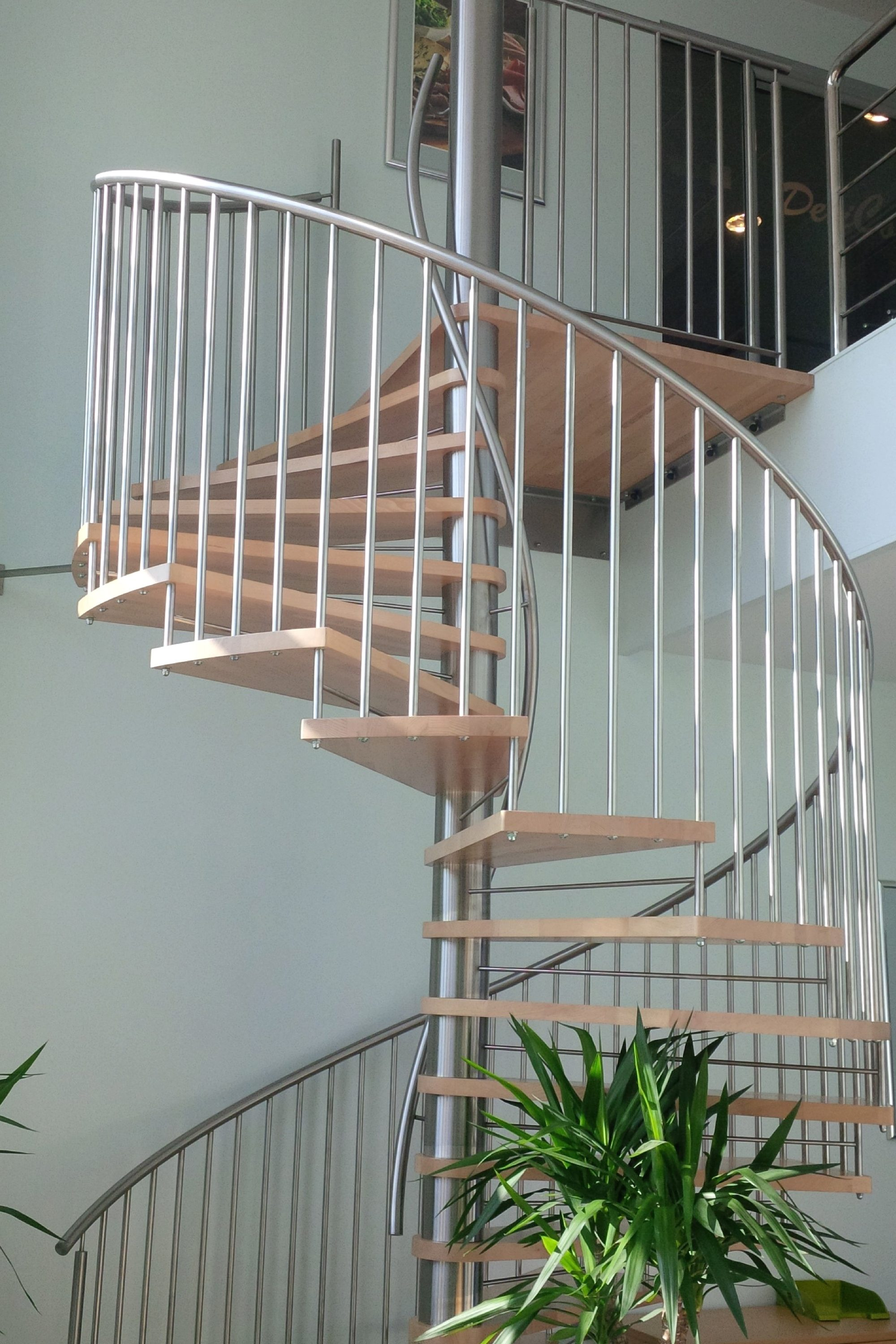 Elite commercial spiral staircase
