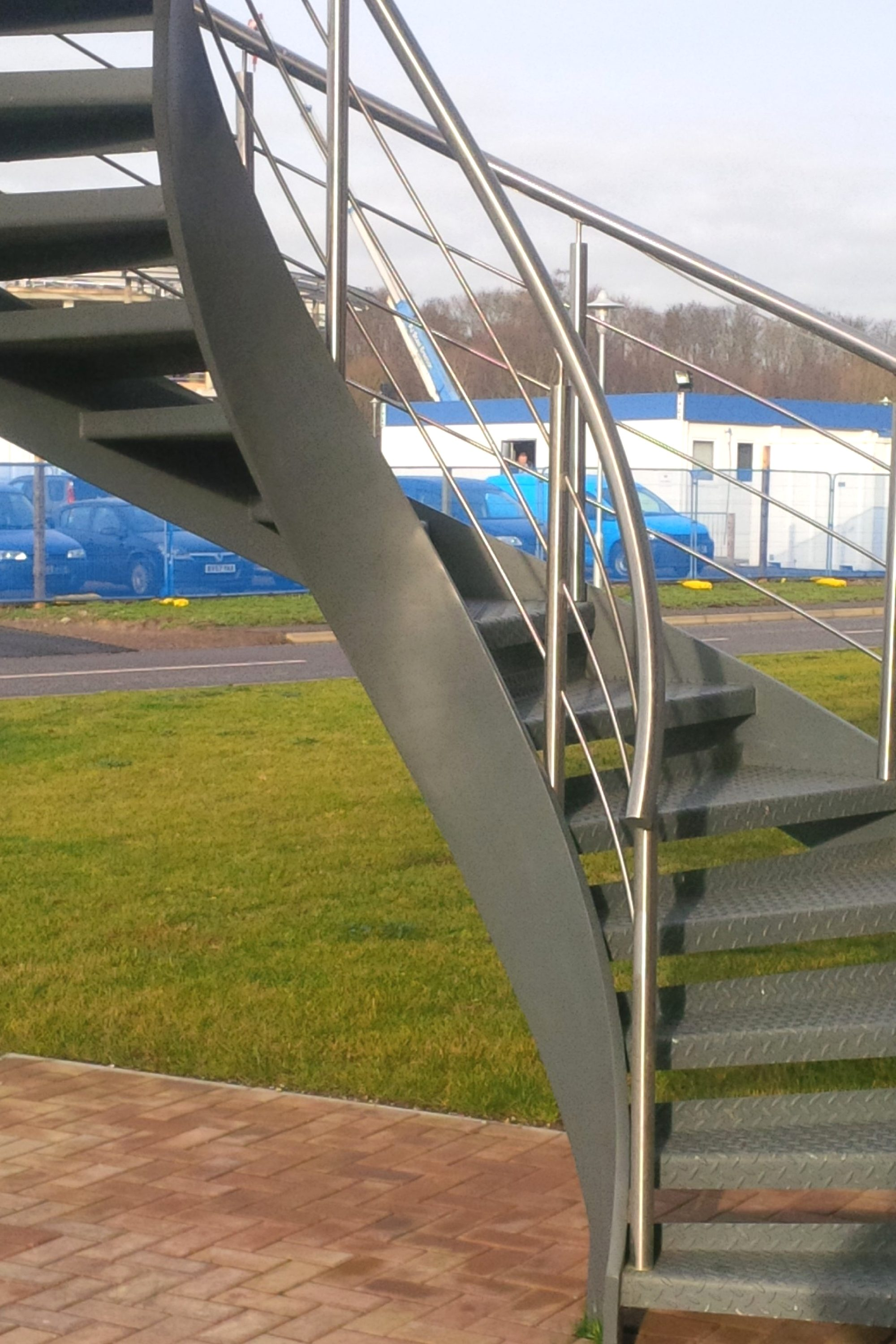 External helical staircase