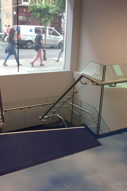 Office landing balustrade