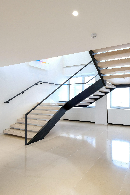 Dog-leg office staircase
