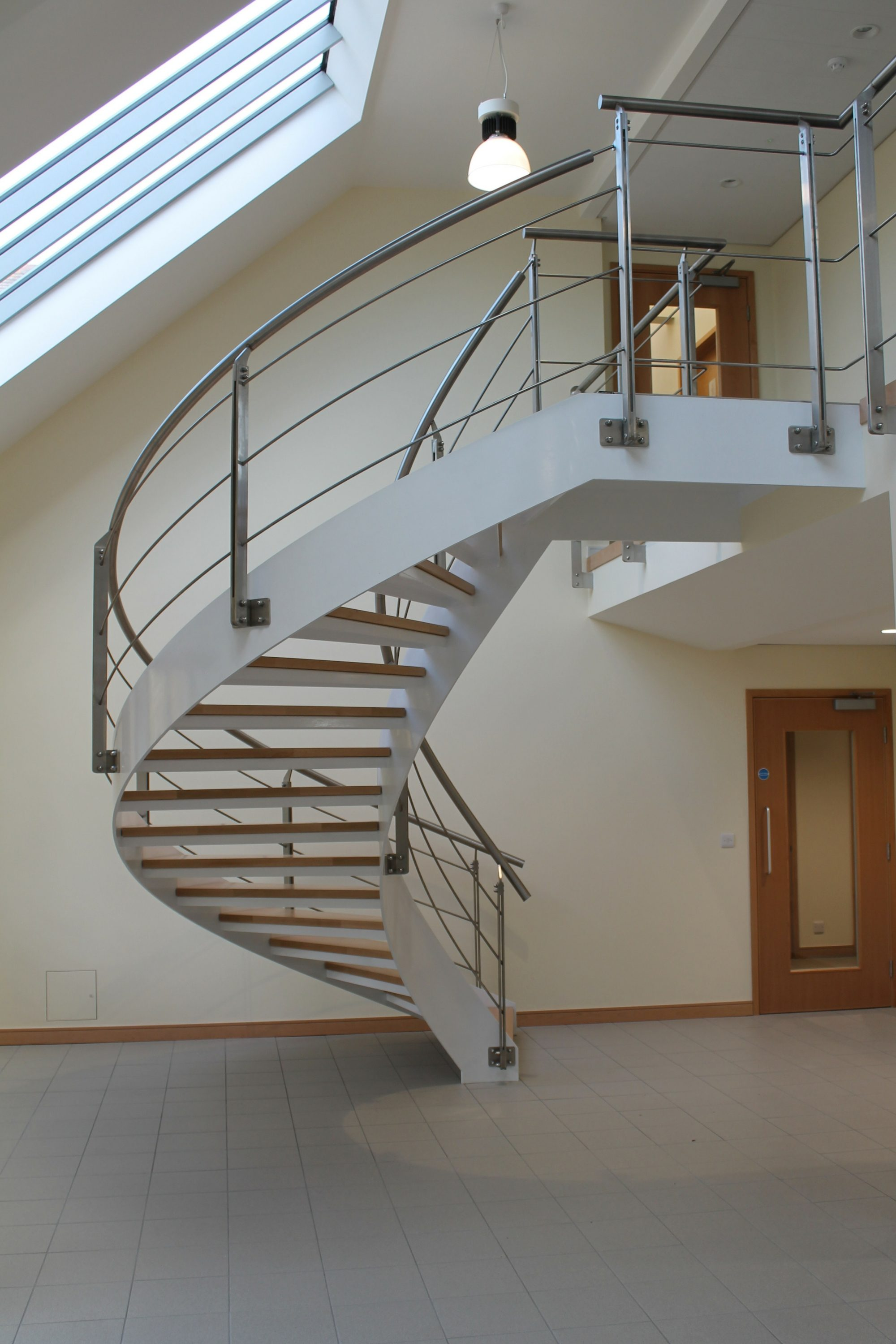 Helical commercial staircase