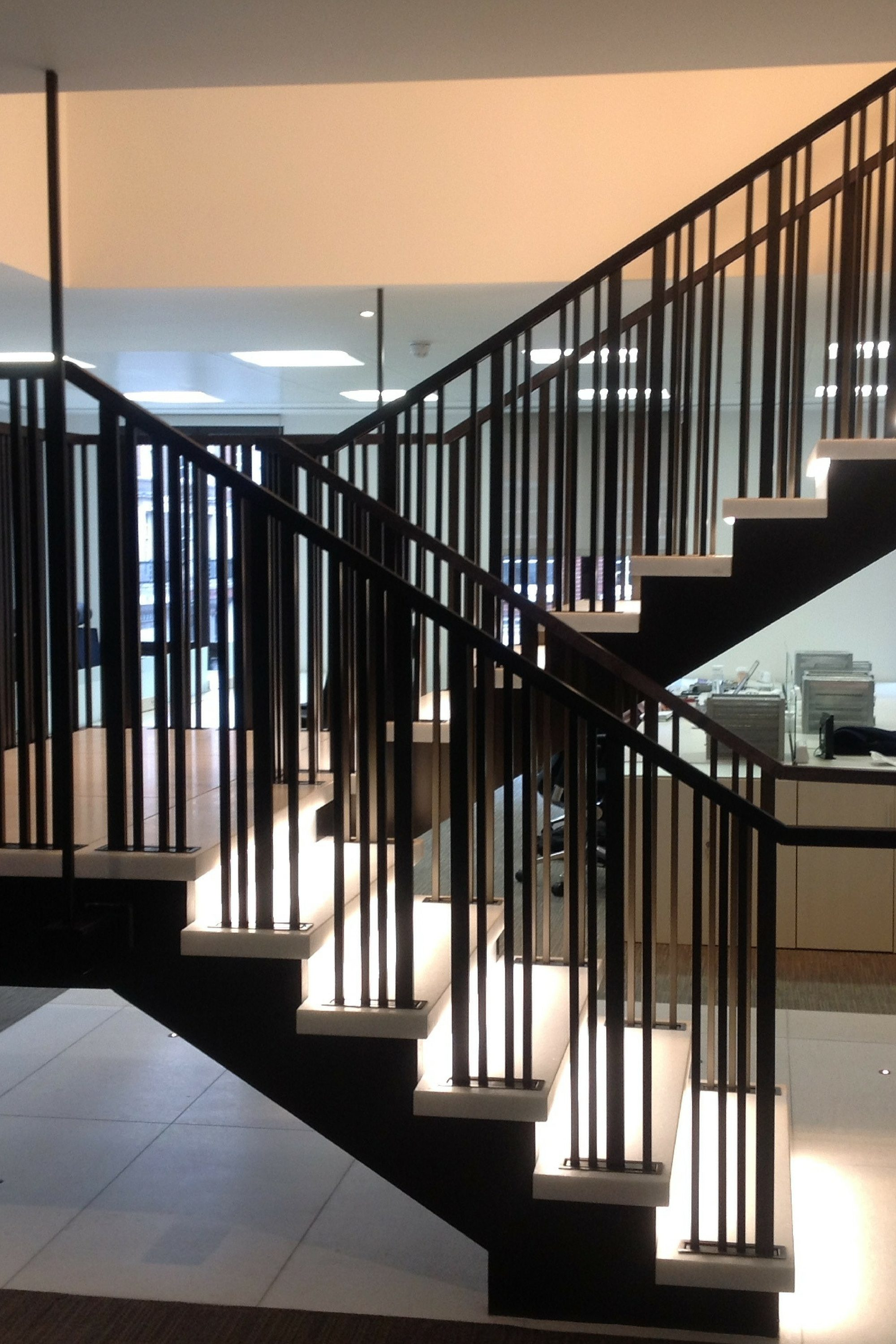 Balustrade on office stair