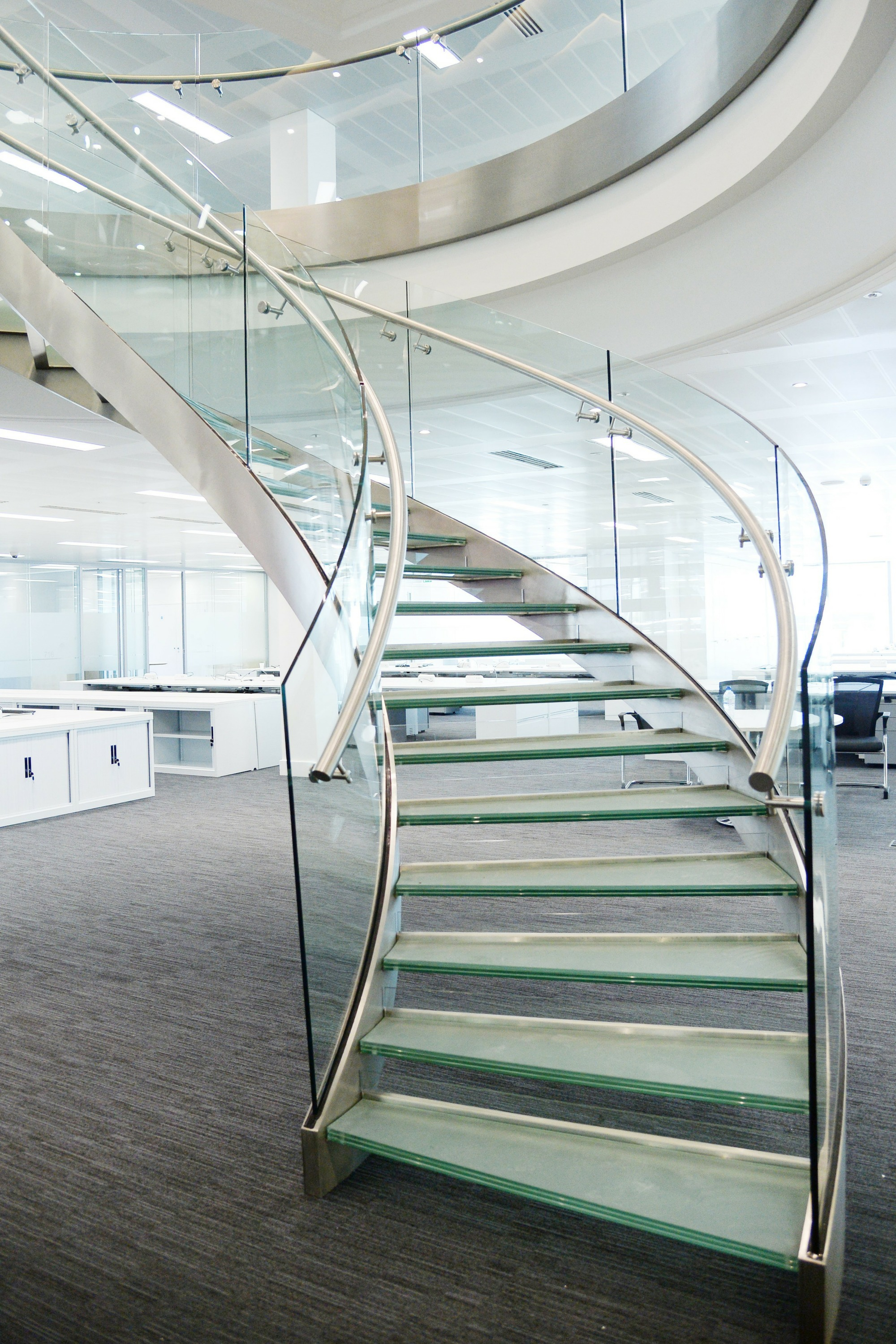 helical fit out staircase